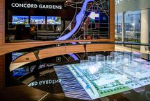 Immersive Sales Centres / Who wants a boring old sales centre when you can create a space that delights and inspires your clients. Here are some examples of Sales Centres done right