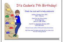 Rock Climbing Party / Fun Ideas for a kids Rock Climbing Birthday Party Theme!