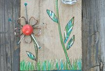 up-cycled/ recycled Garden ART / by Melonie Madison