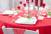 Christmas table idea / by Crystal Bell