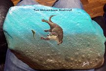 Water Animals painted rocks