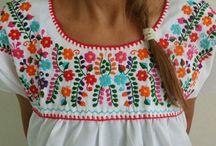 tunicas y bordados / túnicas, blusas bordadas o con telas combinadas