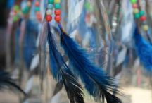 Indian feathers and beads