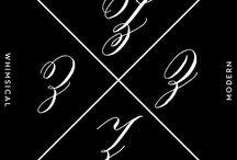 Alphabeth calligraphy
