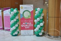 World Quality Day Celebrated at UHS. / World Quality Day was observed on the University Hospital Sharjah campuses this past week in solidarity with this UN-sponsored event that is now becoming increasingly popular in several nations around the world. Doctors, nurses and other staff participated in large numbers. The celebrations included a cake cutting, presentations and a surprise gifts.
