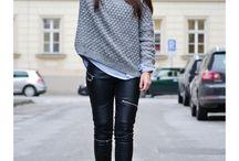 Coole Outfits / Lederhose lässig chic