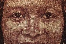 Rostros en mosaico
