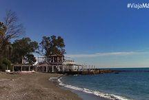 Playa-Balneario Nuestra Señora del Carmen (Baños del Carmen), Málaga. / Un lugar para soñar al atardecer, para perderse y no volver. Un sitio mágico. Los Baños del Carmen, ¡fantásticos!