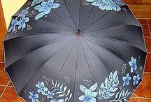 maľované dáždniky