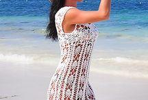 Strand klänning virkad