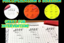 Math Intervention Ideas / Math Interventions, accommodations, modification ideas, tips for special education students, struggling students, math intervention ideas for small groups, word problems, story problems, multiplication facts, division, long division, interactive notebooks, anchor charts, lesson plans, task card ideas, activities, games, classroom teaching tips.