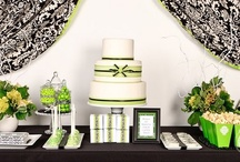 Gray, white, and green wedding ideas / by Jessica Davison