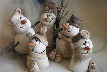 mini Schneemänner
