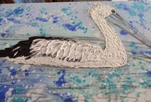 Vonny K Pelican progress / I have really loved watching this painting progress.
