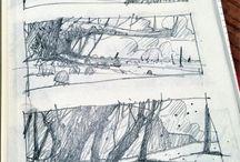 Sketchbook and Drawings