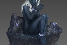 FANTASY • Elf • Drow • Female