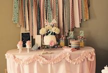 Bridal shower ideas  / Sweet table or entrance table