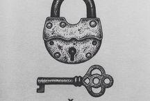 Lås och nycklar.