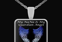Nana Guardian Angel / Nana Guardian Angel - Pendants, T-Shirts, Coffee Mugs, Necklaces, Bracelets, Hoodies.  Men's and Women's - All Colors, Sizes and Styles available / by Designs by Cali Kays