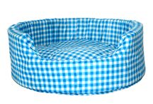 Cute Dog Beds / A variety of durable dog beds.. Available in designs like red velvet, blue velvet, multi-colored checks, blue checks And Much More!! These washable and easily portable dog beds are available in THREE different dimensions; Small, Medium and Large!! grin emoticon  For attractive discounted prices click here http://www.marshallspetzone.com/31-beds-huts