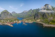 Aerial Lofoten islands