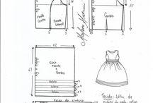 modelagem de vestido criança
