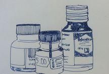Daily drawings / Jag försöker att skapa en vana att teckna något varje dag.