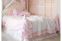 BEDROOM ~ PINK & WHITE / by Sue Dewland