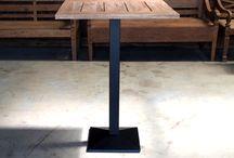 Bistrotische - Gastrotische / Teakholz Bistro & Gastro Tische aus Massivholz