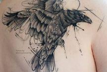 Tattoos ravens