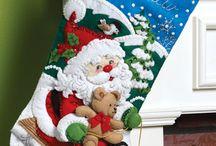 Šití vánoční