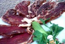 Вяленое мясо/сало/шпик