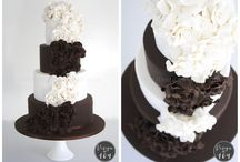 Wedding Cakes by Design at 409 / All work created and crafted by Stacey Johnson of Design @ 409 - www.designat409.com