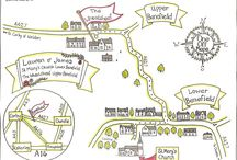 One Off Maps / Hand drawn maps for special occasions and places created by Emma at One Off Maps.