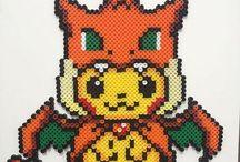 Hama Pikachu perler beads