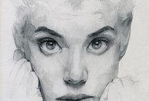 рисунок, штрих и карандаш