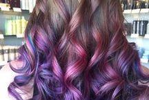 dark blond to purple ombre