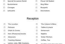 Wedding check lists