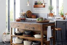 Kjøkken-interiør og ideer.