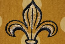 Saints / by Kelly Salario~Seaux Southern (machine embroidery)