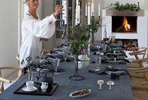 Velkommen til bords! / Et bord dekket med omtanke og kreativitet ønsker en varmt velkommen.