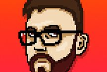 Pixel Avatars / I make avatars in the style of Hotline Miami for just a few dollars. https://www.fiverr.com/linuz90/make-your-hotline-miami-style-avatar