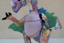 'Rainbow Dragon' / The very first  OOAK eco dragon from Ecobears.