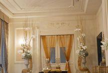 Tavolo oro e diamanti / cerimonia simbolica e tavolo imperiale panna e oro.