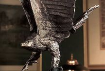 bronze eagles living room