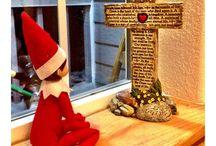 Elf on the Shelf / Silly elf on the shelf ideas