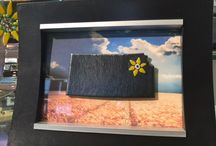 Kansas in Fused Glass / The state of Kansas made out of fused glass art. Beautifully displayed on a picture frame or as a light catcher. A great reminder that there is No Place Like Home!