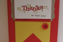stampin up thank you cards