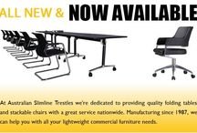 Trestle Tables / Australian Slimline Trestles is Australia's leading supplier of stackable banquet chairs, round folding tables and trestle tables at very cheaper price. Request a quote now. http://www.trestle.com.au