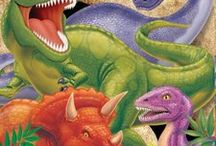 Dinosaur Party Decorations and Ideas / Here are some of the great Dinosaur party ideas we found, and a collection of our most popular dinosaur theme party supplies which can be found at http://www.ezpartyzone.com/cat-dinosaur-party-supplies.cfm